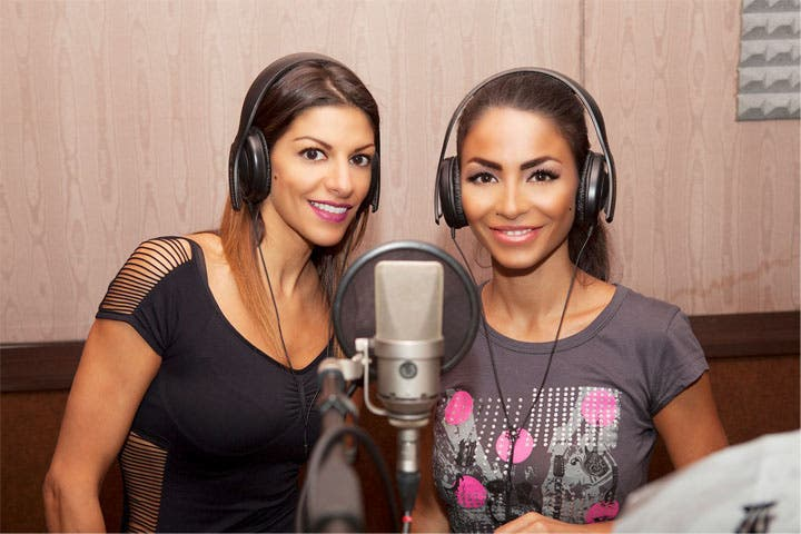 Nadina and Dolly Shahine recording their duet in Egypt. (Image: Facebook)