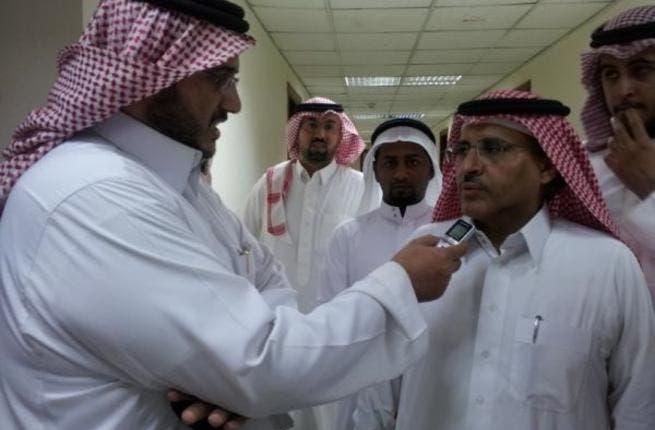Dr. Hamed is interviewed outside the courtroom