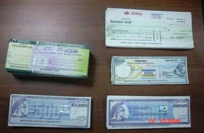 Bank Blank Cheque Blank Cheques Identified as