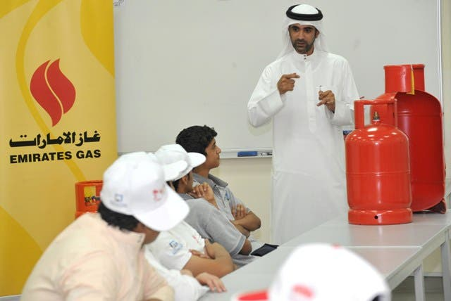 Ali Al Hammadi, Quality Coordinator at EMGAS, provided the students with an overview of Emirates Gas products and services