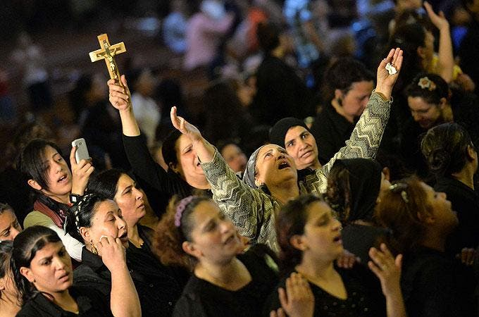 Amnesty International has slammed Egypt for failing to protect its Christian minority. (AFP)