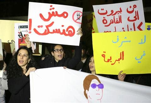 On the second anniversary of the start of the revolution on Jan. 25, 19 separate sexual attacks were reported in Tahrir Square alone, one in which a woman was even penetrated with a bladed weapon. (Daily Star)
