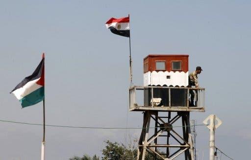 Egyptian police man the Rafah border (AFP/File)