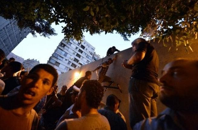 Protestors storm the embassy in Egypt