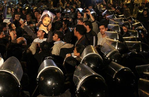 As Egypt went on high alert ahead of Coptic Christmas, Christians and Muslims joined ranks in a mass protest under the watchfull eyes of riot police