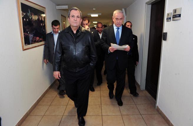 Ehud Barak, Israel's outgoing defense minister.