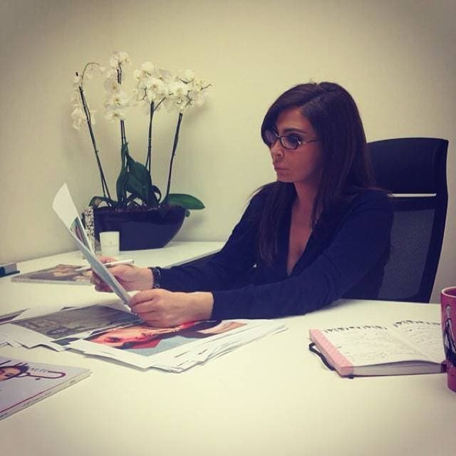 Here Elissa sits in her new Editor-in-Chief seat. (Image: Facebook)