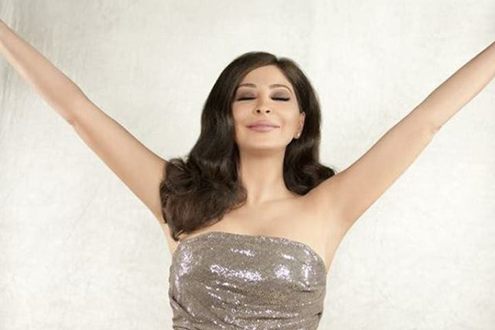 Elissa is feeling on top of the world as she gets ready to marry this year. (Image: Facebook)