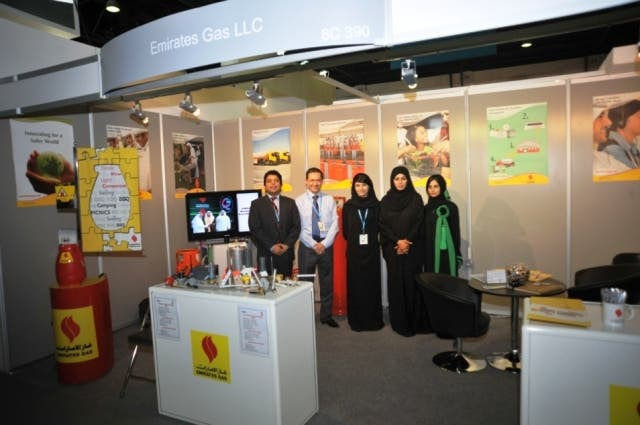 Emirates Gas booth at The Hotel Show