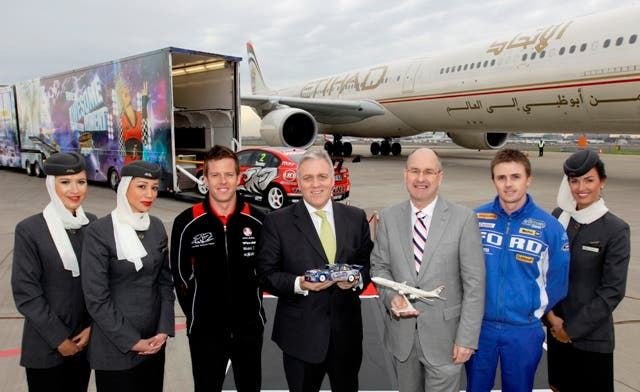Etihad's partnership with V8 Supercars will be highlighted through signage and promotions at select V8 Supercar events