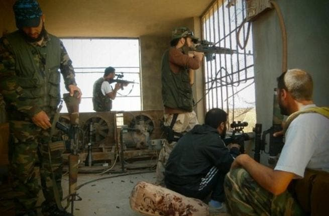 FSA rebels in Damascus