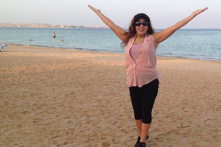 Alive & kicking Fifi Abdo enjoys a day by the beach. (Image: Facebook)