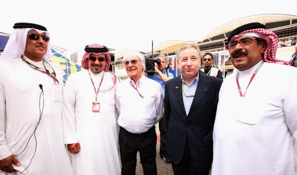 Formula 1, Bahrainis Crown Prince with Bernie Ecclestone, 2012