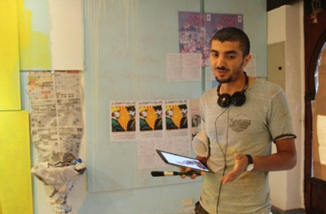 Ganzeer at his gallery