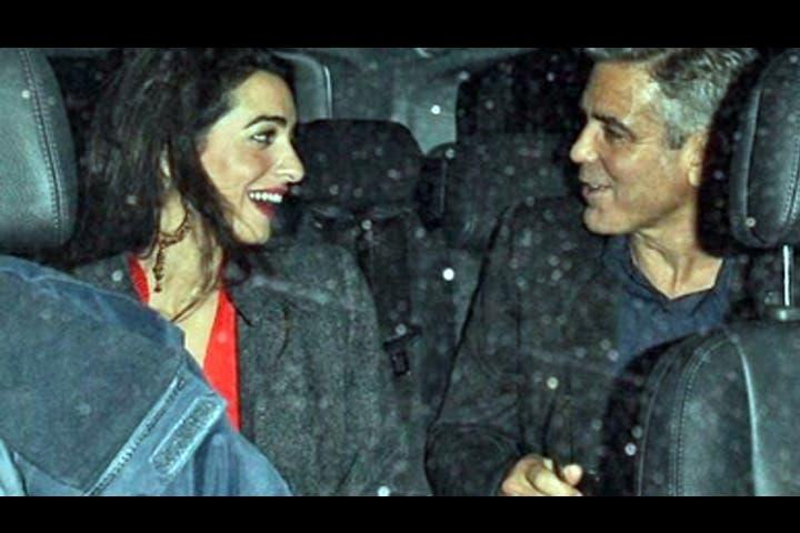 George Clooney denied being romantically-involved with Lebanese barrister Amal Alamuddin. (Image: Alarabiya)