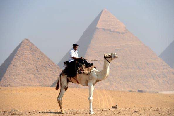 The Giza pyramids in Egypt. (Getty image).