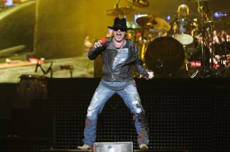 Live and Let Die: Guns and Roses hit the high notes in Abu Dhabi.