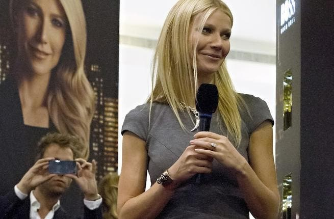 Gwyneth Paltrow is the ambassador for Hugo Boss' new women's fragrance called Nuit.