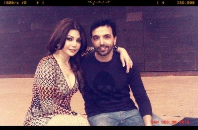 Haifa with her star choreographer, Kamel Ouali in Beirut.