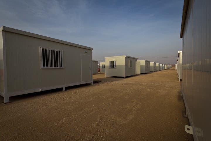 The Halabat camp in the middle of the Jordanian desert awaits the influx of Syrian refugees.