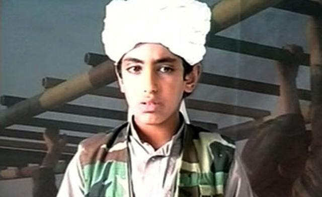 Screen shot of young Hamza Bin Laden thought to have escaped after the May 2 raid.