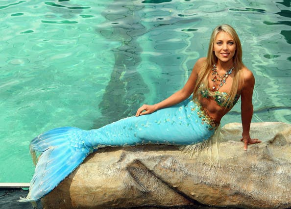 "A professional mermaid has swam out in support of the Atlantis hotel group after 'Splash' star Daryl Hannah said its Dubai hotel offered a ""fake"" experience and plastic culture. (Photo courtesy of Beauty Rush)"