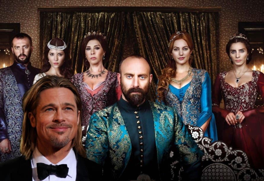 Brad Pitt graces the Turkish set of Sultan's Harem, Season 2 of the Turkish soap