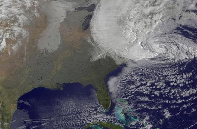 The view from above: Hurricane Sandy's path
