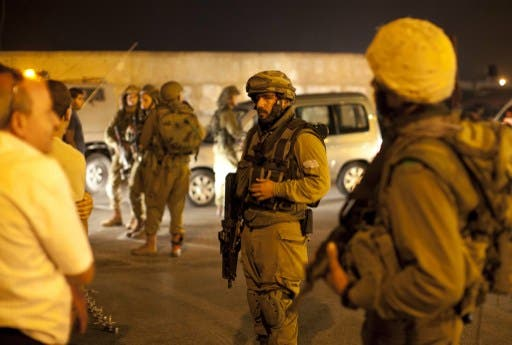 The Israeli military is apparently facing mounting criticism over its night raids on Palestinian families. (AFP/File)