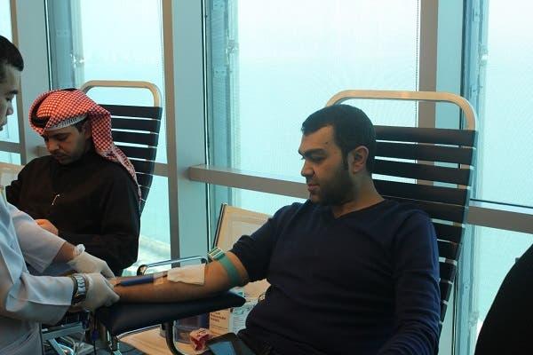 VIVA employees donating blood
