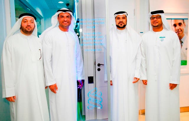 Executives of Standard Chartered Bank and Hamriya Free Zone Authority