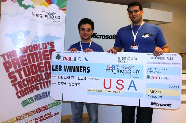 Winners of the Local Imagine Cup Competition from AUB