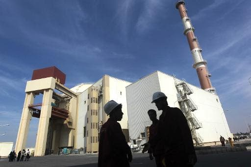 The reactor building at the Russian-built Bushehr nuclear power plant in southern Iran (Mehr News/AFP/File, Majid Asgaripour)
