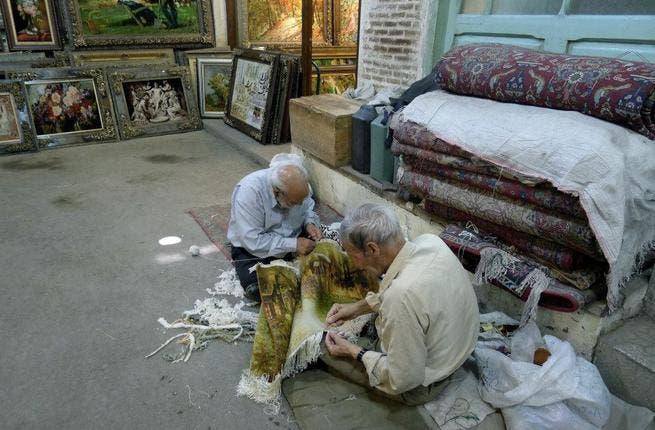 Artisans in Tabriz market, Iran.