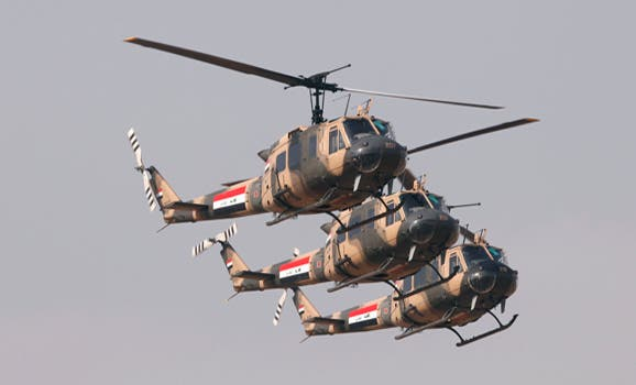 Baghdad is particularly interested in obtaining more helicopters from Russia in order to target rebels conducting attacks across the Iraq (Saad Shalash/Reuters)