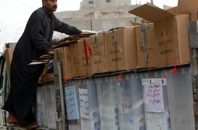 Iraqi ballot boxes: one way to change the system
