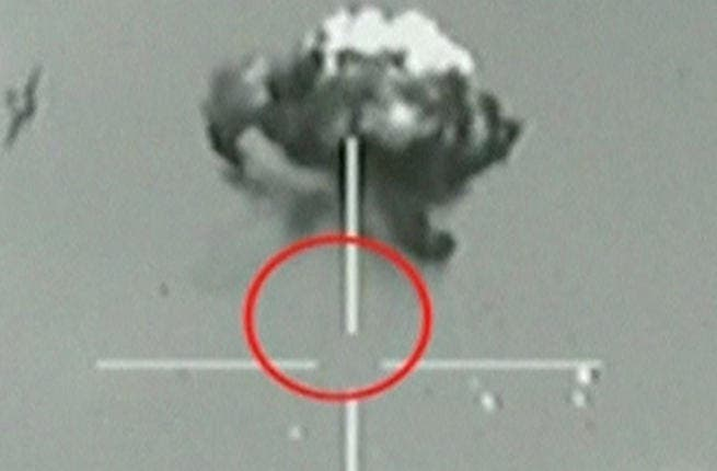 A still image taken from Israeli Army video footage shows what they say is a small unidentified aircraft shot down in a mid-air interception after it crossed into southern Israel October 6, 2012.