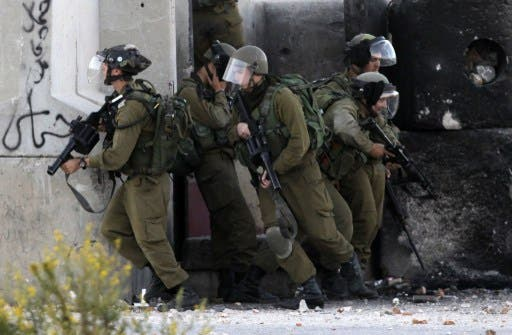 Five Palestinian men were taken by Israeli forces during an overnight raid in Nablus in the northern West Bank. (AFP/File)