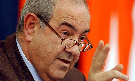 Iyad Allawi asked Prime Minister Nouri al-Maliki to stop targeting Arab tribes in Anbar. [AFP]