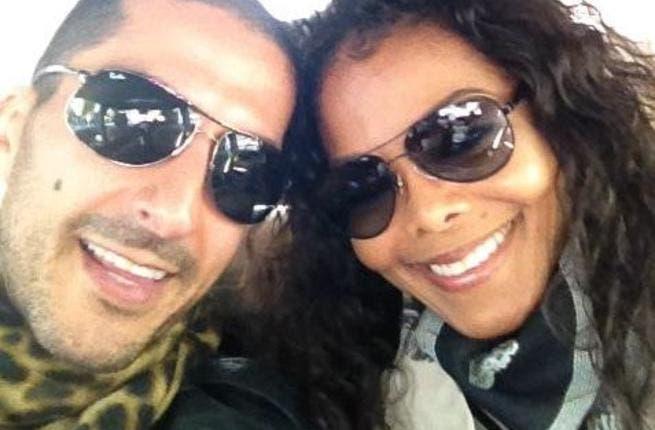 Janet with her Qatari billionaire lover.