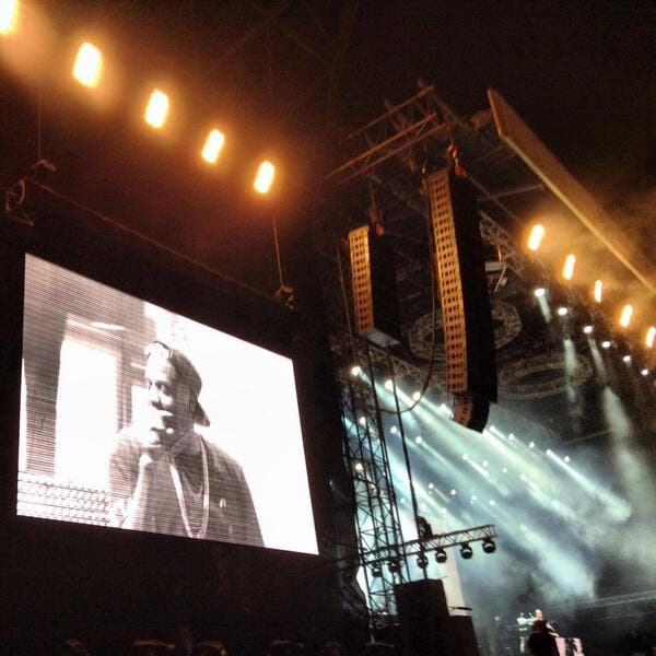 Jay Z performed to a sold out audience at Yas Marina Circuit. (Image: Twitter)