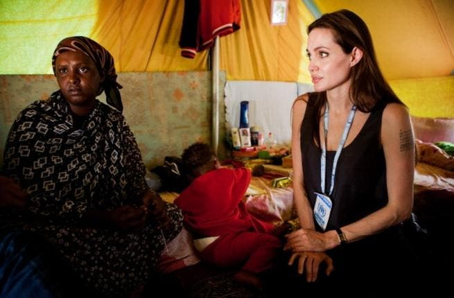 Angelina visits Somali refugees in Tunisia last year