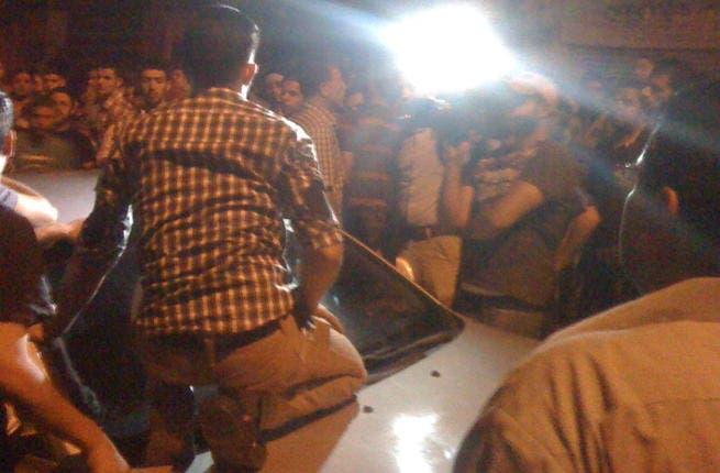Protestors gathered in Jabal al Taj