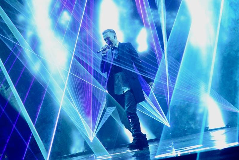 Justin Timberlake taking the stage by storm! (Image: Facebook)
