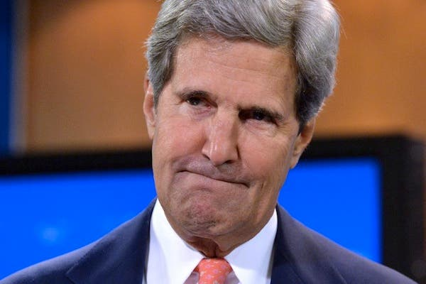"""US Secretary of State John Kerry said that there is """"only a political solution to Syria's war, not a military one""""."""