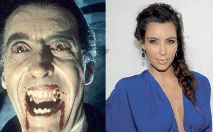 Kim Kardashian clearly looks nothing like a vampire (L) (7Days)