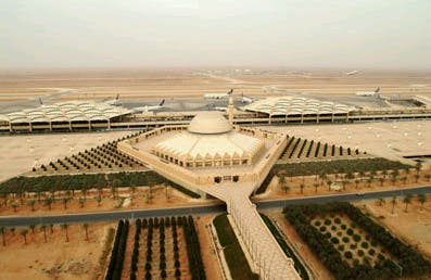 Prince Fahd said that some 65 million domestic and foreign passengers use the Kingdom's air traffic sector in a year (Pictured: Riyadh's King Khaled International Airport).