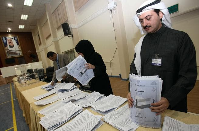 Election officials in Kuwait