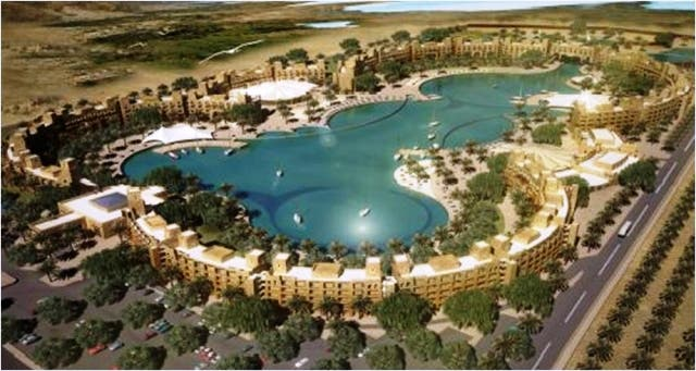Upon completion, the lagoon will be entered into the Guinness Book of Records, said a statement released by the company on Wednesday.