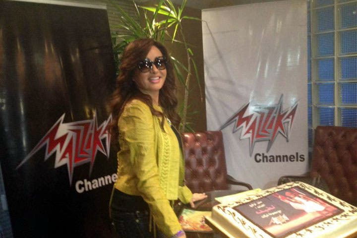 Latifa celebrated as she signed with record label Mazzika. (Image: Facebook)